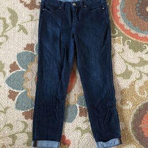 Lauren Conrad Cuffed Skinny Crop Jeans